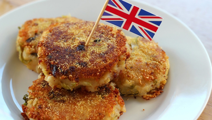 Bubble and Squeak อาหาร อังกฤษ